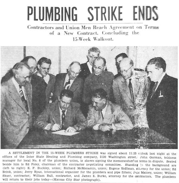 Plumbing Strike